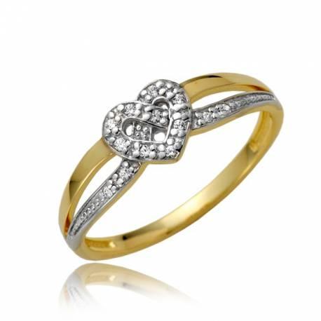 Uroczy złoty pierścionek P1874