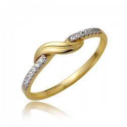 Złoty pierścionek P1871
