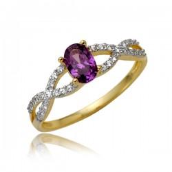 Złoty pierścionek P1870