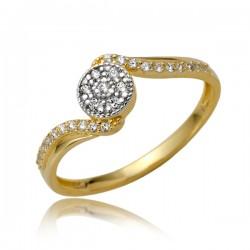 Złoty pierścionek P1868