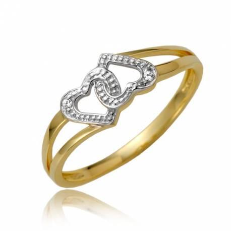 Złoty pierścionek P1866
