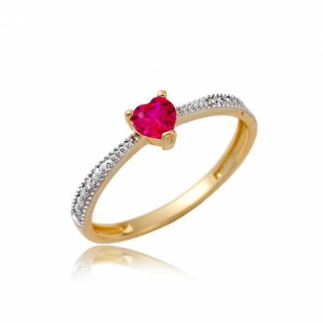 Złoty pierścionek P1863