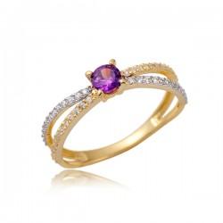 Złoty pierścionek P1862