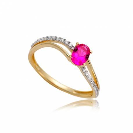 Złoty pierścionek P1861