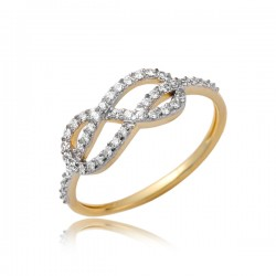 Złoty pierścionek P1857