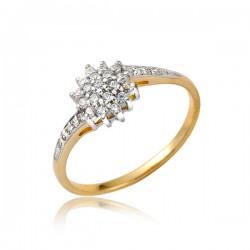 Złoty pierścionek damski P1855