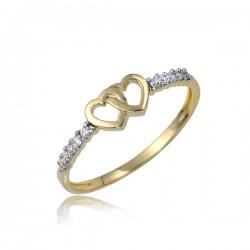 Uroczy złoty pierścionek P1849