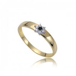 Delikatny złoty pierścionek P1845