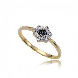 Urokliwy złoty pierścionek P1842