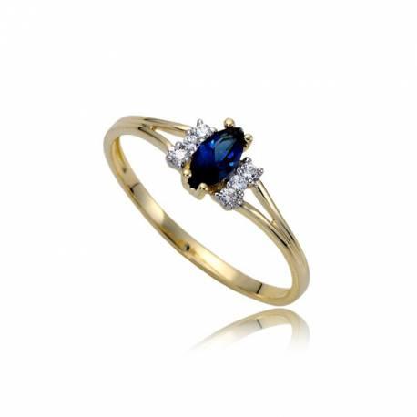 Damski złoty pierścionek P1840