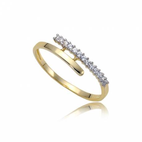 Złoty damski pierścioneczek P1838