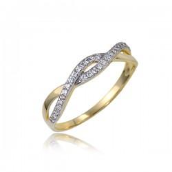 Luksusowy złoty pierścionek P1835