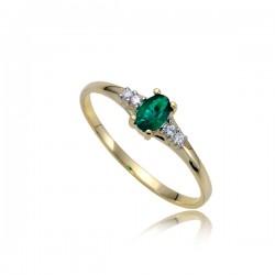 Gustowny złoty pierścionek P1832