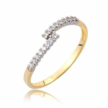 Damski złoty pierścionek P1819