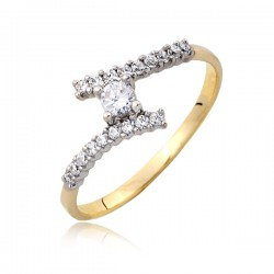 Złoty pierścionek P1815
