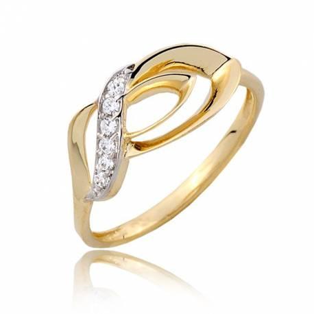 Przepięty damski pierścionek P1813
