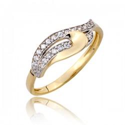 Kapitalny złoty pierścionek P1810