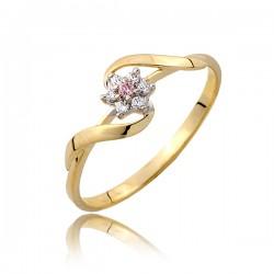 Drobny złoty pierścionek P1806
