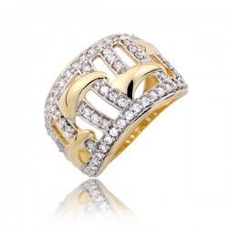 Nieduży złoty pierścionek P1799