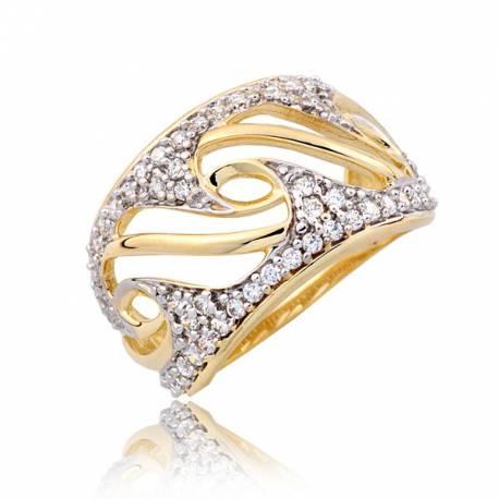 Złotawy damski pierścionek P1798
