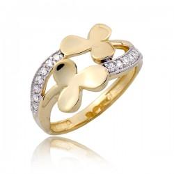 Złocisty kobiecy pierścionek P1792