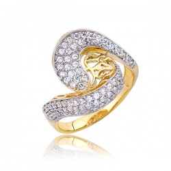 Uroczy złoty pierścionek P1787