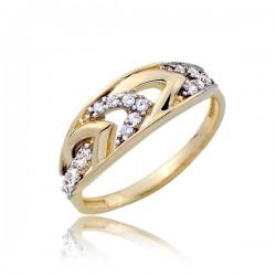 Błyszczący złoty pierścionek P1784