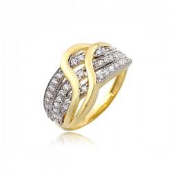 Damski pierścionek złoty P1775