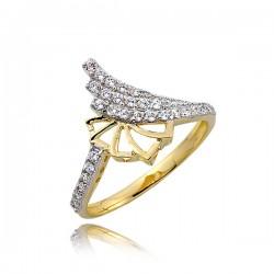 Złoty pierścionek P1766