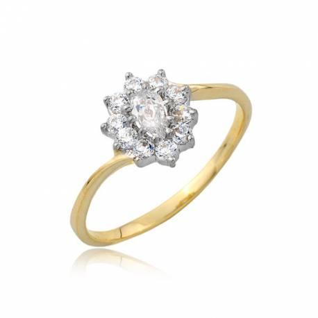 Uroczy złoty pierścionek P1762