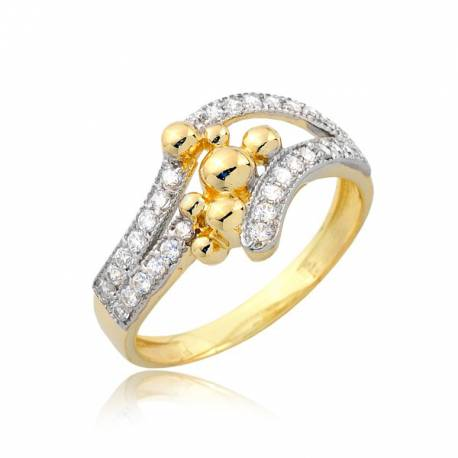 Niepowtarzalny damski pierścionek P1757