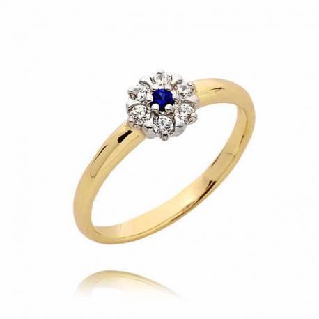 Złoty pierścionek PB41