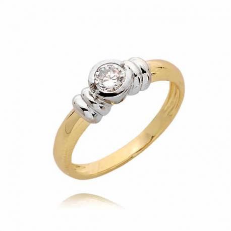 Złoty pierścionek PB48