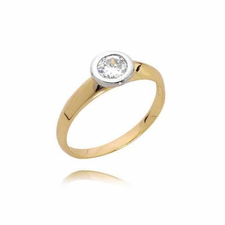 Złoty pierścionek PB81