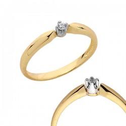 Złoty pierścionek PB93
