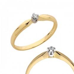Złoty pierścionek PB95