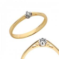 Złoty pierścionek PB100