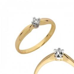 Złoty pierścionek PB104