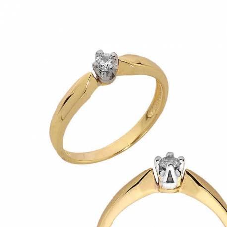 Złoty pierścionek PB105