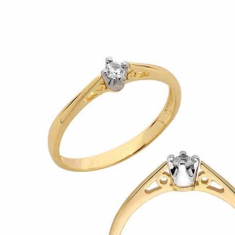 Złoty pierścionek PB108