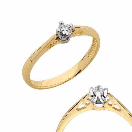 Złoty pierścionek PB109