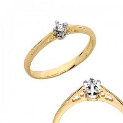 Złoty pierścionek PB111