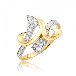Złoty pierścionek P1696
