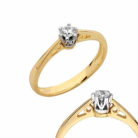 Złoty pierścionek PB119