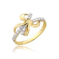 Złoty pierścionek P1678