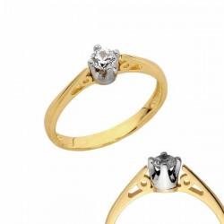 Złoty pierścionek PB128
