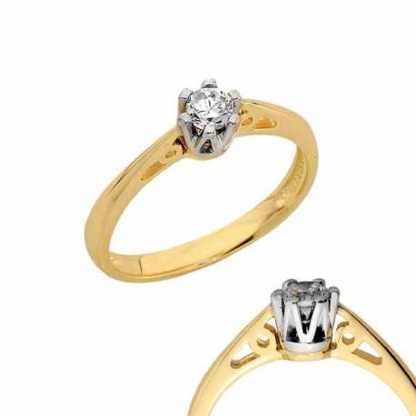 Złoty pierścionek PB130