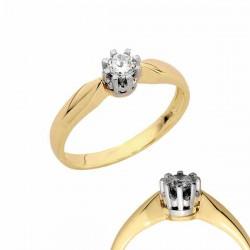 Złoty pierścionek PB136