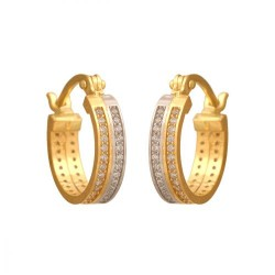 Złote kolczyki koła wzór-38928