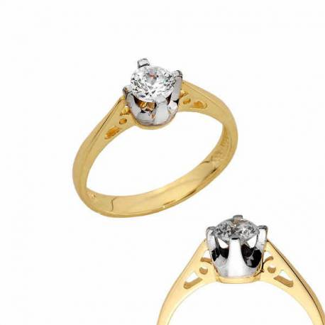 Złoty pierścionek PB158